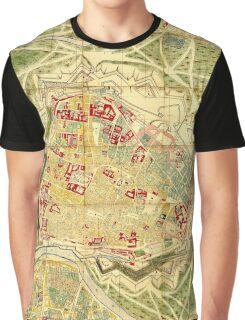 Vintage Map of Vienna Austria (1710) Graphic T-Shirt