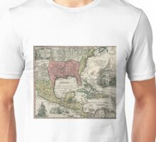 Vintage North America and Caribbean Map (1720) Unisex T-Shirt