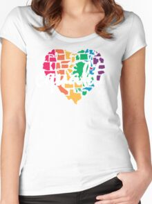 Equality Challenge: Rainbow Heart Women's Fitted Scoop T-Shirt
