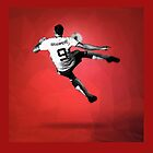 Zlatan Ibrahimovic Bicycle Kick (T-shirt, Phone Case & more) by wetherill1234