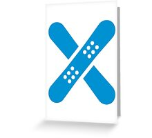 Crossed snowboards Greeting Card
