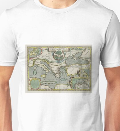 Vintage Map of The Mediterranean Sea (1608) Unisex T-Shirt
