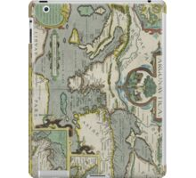 Vintage Map of The Mediterranean Sea (1608) iPad Case/Skin