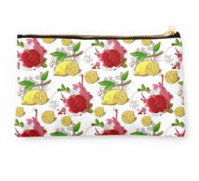 Lemons and pomegranates fruit pattern Studio Pouch