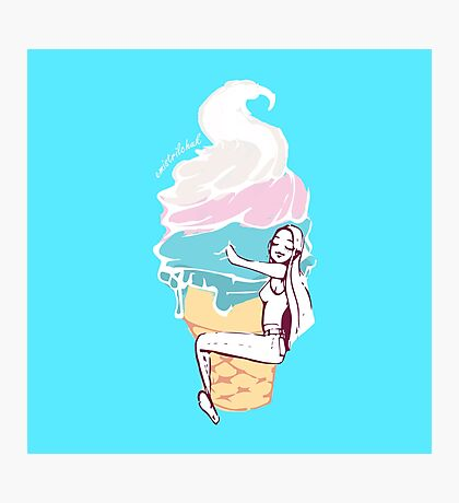Ice Cream Love Photographic Print