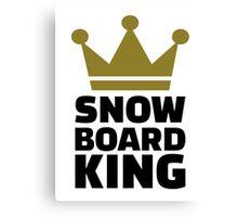 Snowboard king champion Canvas Print