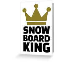 Snowboard king champion Greeting Card
