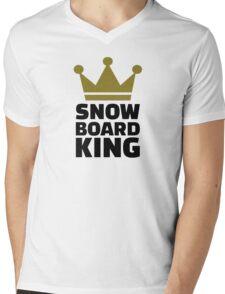 Snowboard king champion Mens V-Neck T-Shirt
