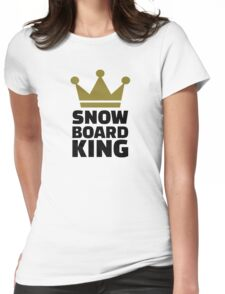 Snowboard king champion Womens Fitted T-Shirt