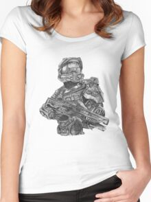 Halo - Master Chief  Women's Fitted Scoop T-Shirt