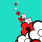 Light Red & White Flowers by treasured-gift