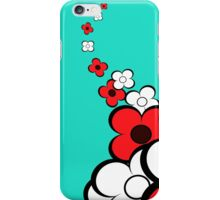 Light Red & White Flowers iPhone Case/Skin