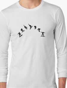 Snowboard freestyle jump Long Sleeve T-Shirt