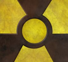 Radioactive Fallout Symbol - Nerd Science Sticker