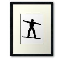 Snowboarding sports Framed Print