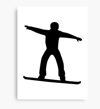 Snowboarding sports Canvas Print