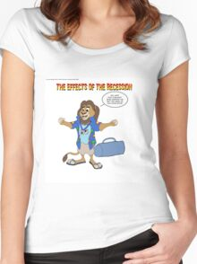 The Effects Of The Recession #2 Women's Fitted Scoop T-Shirt