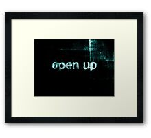 Open Up to Distress Framed Print
