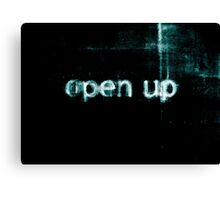 Open Up to Distress Canvas Print