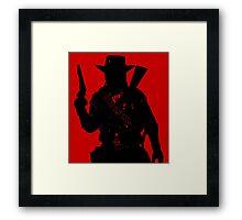 Cowboy Silhouette Framed Print
