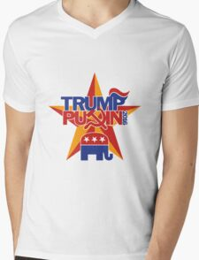 TRUMP-PUTIN 2016, THE ONLY REAL CHOICE WE HAVE! Mens V-Neck T-Shirt