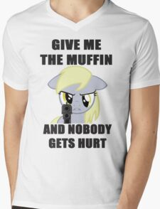 Derpy Wants Her Muffin Mens V-Neck T-Shirt