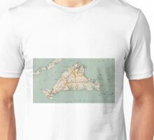 Vintage Map of Martha's Vineyard (1917) Unisex T-Shirt
