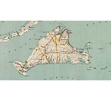 Vintage Map of Martha's Vineyard (1917) Photographic Print