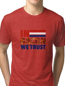 In Bacon We Trust - Election 2016 Tri-blend T-Shirt