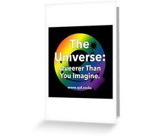 QSF Universe Logo - Black Greeting Card