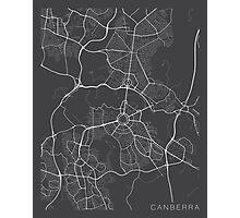Canberra Map, Australia - Gray Photographic Print