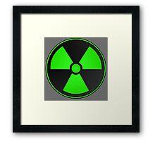 Green Radioactive Symbol Framed Print