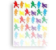 Multi-Colored Falco Fade Design Canvas Print