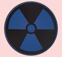 Blue Radioactive Symbol One Piece - Long Sleeve