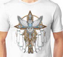 Native American Snowy Owl Mandala Unisex T-Shirt