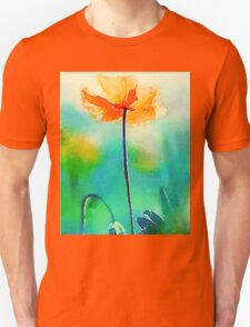 California Poppy Watercolor Fine Art Unisex T-Shirt