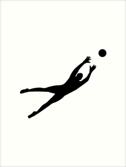 Quot Soccer Football Goalkeeper Quot Art Prints By Designzz