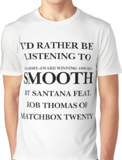 THE ORIGINAL Listening to Smooth Graphic T-Shirt