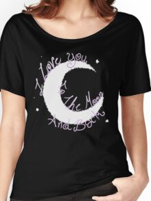 Love to the Moon Women's Relaxed Fit T-Shirt