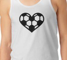 Soccer football heart Tank Top