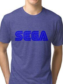 Blue Sega Logo Tri-blend T-Shirt