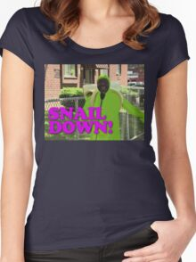 SNAIL DOWN Women's Fitted Scoop T-Shirt