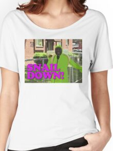 SNAIL DOWN Women's Relaxed Fit T-Shirt