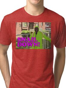 SNAIL DOWN Tri-blend T-Shirt