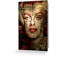 Red Marilyn Greeting Card