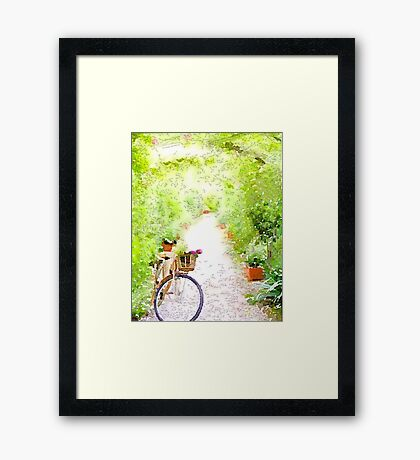 The Bike Path Framed Print