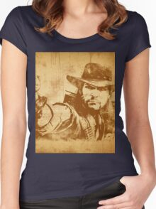 Cowboy - vintage Women's Fitted Scoop T-Shirt