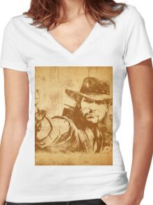 Cowboy - vintage Women's Fitted V-Neck T-Shirt