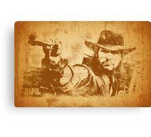 Cowboy - vintage Canvas Print