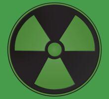 Green Radioactive Symbol One Piece - Short Sleeve